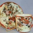 Oriental Porcelain Game Birds Design Demitasse Cup and Saucer