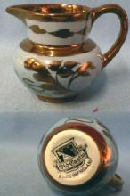 Pink Copper Luster Miniature Pottery Pitcher - Lustre
