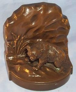 Copper BEAR   Figurine Bookend, Metalware
