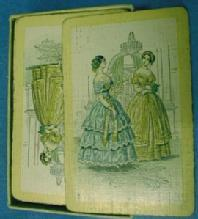 old vintage Godeys Lady Playing Cards - Advertising Paper