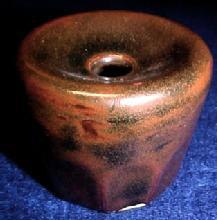ROCKINGHAM Glazed Inkwell - Pottery