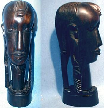 Tribal Figure Woman - Hand Carved Ethnographic Woodenware