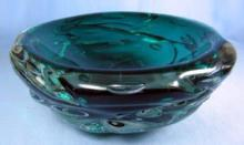 art glass  Monumental Huge Italian Art Glass Bowl -