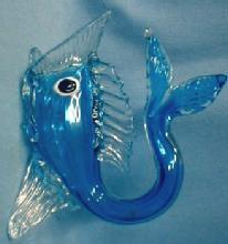 Italian Art Glass FISH  - Cobalt Blue Art Glass