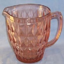 Pink Windsor Pattern Depression Glass 52oz. Pitcher
