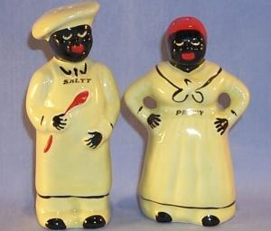 Porcelain Mammy and Chef Salt and Pepper Shakers