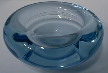 Holmgaard  Art GlassDish - Designed by Per Lutken  - Modern Donut Shaped