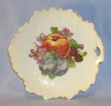 Porcelain  Occupied Japan Leaf Shaped Fruit Design Dresser Trays