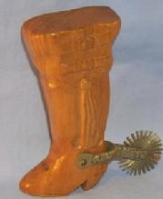 Chiliean Woode Metalware Cowboy Boot with Metal Spur Bottle Opener-