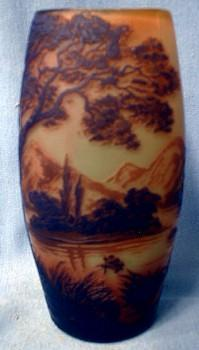 deVez French Cameo Art Glass Vase - Victorian
