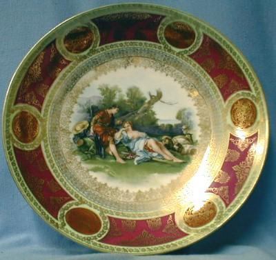 old Royal Vienna Porcelain Charger - Blue Beehive