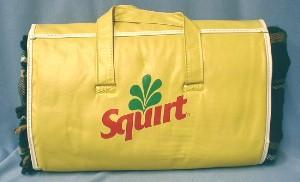 old SQUIRT Stadium Blanket Squirt Advertising Premium - Misc