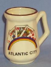 Porcelain ATLANTIC CITY  Toothpic Holder