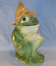 Cookie Jar Brush Pottery HILLBILLY FROG