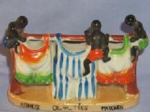 3 Black Figures ,Porcelain Clothesline design