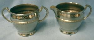 antique Silverplate Sugar & Creamer -   Silver Plate