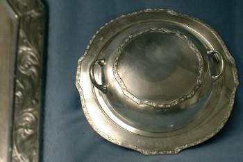 vintage Antique Silverplate Covered Casserole Dsih or Server - Silver Plate