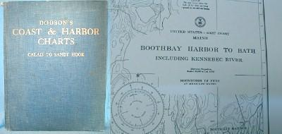vintage Nautical Charts  - Dodson Coast & Harbor  - Boating & Sporting Paper