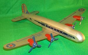 Toy Wooden Airplane With 4 Props and Detachable Wings.