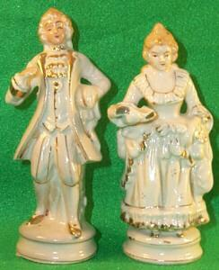 Porcelain Occupied Japan  Victorian Couple Figurines