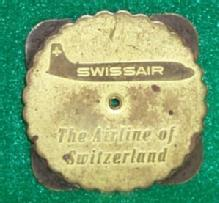 Unusual Swissair Advertising Adjustable Calender For 1951-1978