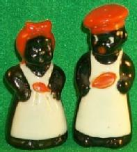 Ceramic Mammy And Chef Salt & Pepper Set