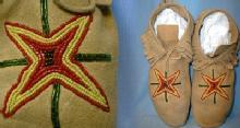 old vintage PLAINS Indian Beaded Moccasins - Antique American