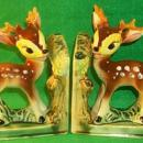 BAMBI Figural Porcelain Bookends