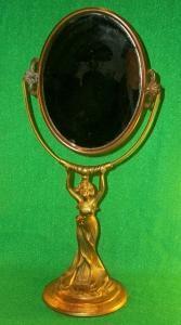 Victorian, Dresser Top, Vanity Mirror, Bronzed Pot Metal
