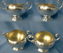 antique Silver Plate Sugar Bowl & Creamer - Bristel Silver Company