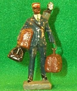 Black Memorabilia - Hand Painted  Composition  Miniature PORTER  Male Figurine - Porcelain