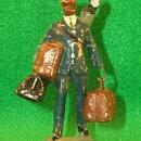 Black Memorabilia - Hand Painted  Composition  Miniature PORTER  Male Figurine - Porcelain