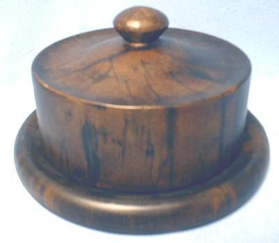 Serving Cheese Keeper - Rare Wood Tone Server
