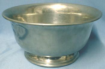 Antique  American Pewter Bowl - Antique Metalware