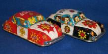 (2) Toy Tin, Friction Motor Cars,