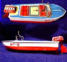 Tin Lithograph Speedboat - Toys Collectibles