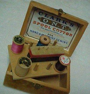 Clark's ONT Box COTTON - Advertising Collectibles