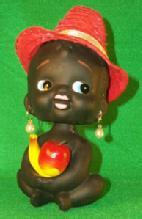 Miscellaneous, Collectible,Black Child Nodder Chalkware Bank.