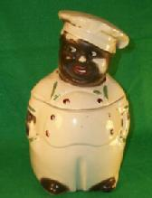 Black Memorabilia CHEF Cookie Jar  - Pottery Porcelain