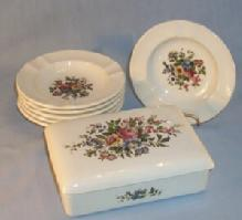 Wedgwood Porcelain Cigarette Set