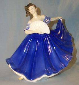 Miscellaneous, Collectible, Porcelain Royal Doulton Lady Figurine,