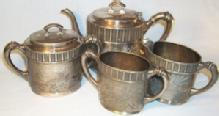 Collectible,  Rogers, Smith & Co. Silver Plated (4) Piece Tea Set