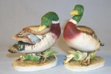 Lefton Porcelain Bisque DUCK Figurines