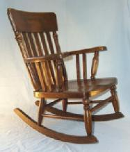 Heywood Wakefield Childs Oak Rocker - Furniture