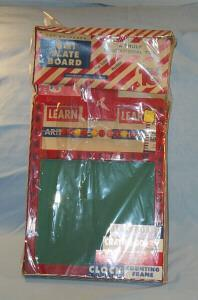 Toys Games (5 in one) Package.Clock, Chalk Board, Crayons, Eraser chalk