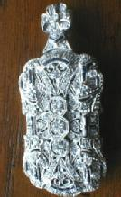 Jewelry  Platinum Diamond & Sapphire Brooch & Pendant - Estate Jewelry