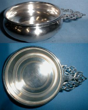 antique Silver Plate Handled Dish - Porringer 1899