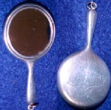 Sterling  Chatelaine Mirror -Silver