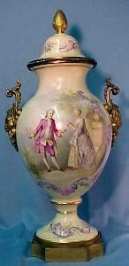 Sevres Gilt-Bronze Covered Vase 19th Century Porcelain