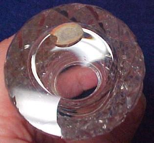 Cut Glass Glue Pot  - Silver